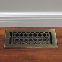 Unikwities Antique Protective Lacquer Art Nouveau Floor Register