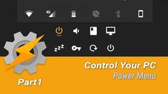 Tasker PC control is a 4 part project that creates power, volume, screen, and application controls in a mobile notification.