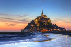 Le Mont-Saint-Michel - Slightly different version of my pervious posted late evening shot of Mont-Saint- Michael