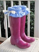 Bow and Ruffle Boot Sock, Liner, and Cuff Knitting Pattern Download