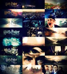 First and Last Shot of Each Harry Potter<3