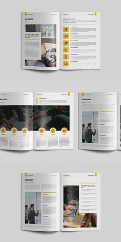 ANNUAL REPORT This annual report template is the best suitable choice to work with that provided an effective layout to publish a comprehensive report, include Corporate Brochure Design, Brochure Layout, Business Brochure, Corporate Business, Brochure Trifold, Brochures, Business Plan Layout, Business Planning, Page Layout Design
