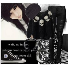 """""""A Emo winter is the best type of winter </3"""" by xtoxicbandwonderlandx on Polyvore"""