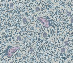 Fairyland Thistledown fabric by spellstone on Spoonflower - custom fabric