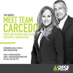 Meet Team Carcedo, heart and passion leads us to masterful transactions! #topagent #resf