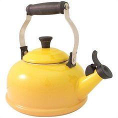 Le Creuset 1.8-Quart Whistling Tea Kettle in Dijon