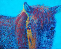 """""""Morning Sun"""" x acrylic by Lisa Bohnwagner. I visited Iceland and wanted to ride one of the Icelandic horses. I painted this from a photo I took of this one in the corral before my ride with the cold early October morning sun hitting her face. Icelandic Horse, My Ride, Animal Paintings, Art For Sale, Morning Sun, Lisa, Wildlife, Contemporary, Artist"""