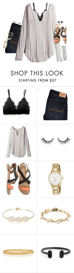 """find me where the wild things are"" by smbprep ❤ liked on Polyvore featuring Abercrombie & Fitch, LAmade, O'Neill, Kate Spade, Jules Smith, Mikimoto and Kendra Scott"