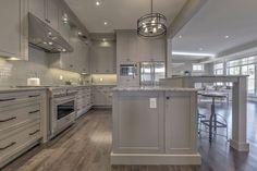 Hardwood and kitchen splash by Dannburg Floor Coverings. Custom home built in Calgary. Mohawk Industries, Armstrong Flooring, Shaw Carpet, Calgary, Custom Homes, Building A House, Hardwood Floors, Kitchen, Home Decor