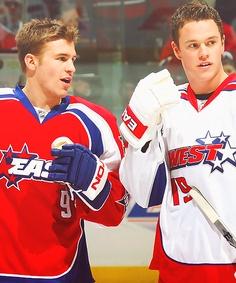 Zach Parise - Minnesota Wild and Jonathan Toews - Chicago Blackhawks.