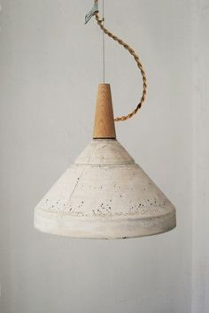 S and L Concrete Ceiling Lamp
