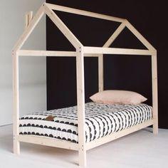 Scandi-chic bedroom for a little lady Boy Room, Kids Room, House Frame Bed, Little Girl Rooms, Kid Beds, House Beds For Kids, Kids Furniture, Girls Bedroom, Bedroom Ideas