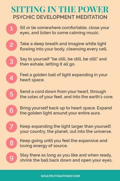 Sitting in the Power Meditation Psychic Development Tips Psychic Development Learning Mediumship Meditation Tips Meditation Mantra, Daily Meditation, Mindfulness Meditation, Meditation Music, Mindfulness Training, Power Of Meditation, Meditation Space, Meditation Practices, Psychic Development