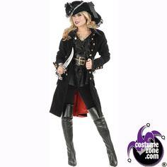 Pirate Halloween Costumes for Women | ... Halloween Costumes,Women,Adult,Costume,Pirate Vixen Coat Costume,Women