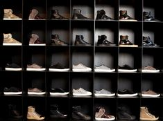 I like this sideways shoe storage idea. Much easier to see your favorite pair if you see it from the side and not the front!