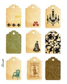 Free printables vintage tags