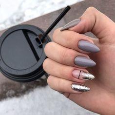 39 trendy fall nails art designs, fall nail art, fall art designs, autumn nail c. Perfect Nails, Gorgeous Nails, Pretty Nails, Dark Nails, Long Nails, Manicure Natural, Hair And Nails, My Nails, American Nails