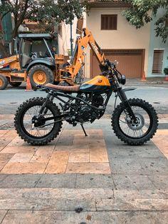 Bobcat 150cc - Yamaha Tracker Motorcycle, Scrambler Motorcycle, Honda Motorcycles, Motorcycle Art, Scrambler Custom, Vintage Motorcycles, Custom Motorcycles, Honda Motorbikes, Cafe Racing