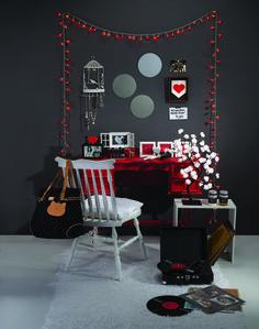 Cantinho preto e vermelho pura paixão | Eu Decoro