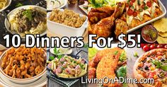 10 dinners for 5 cheap dinner recipes and ideas dinner rolls