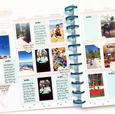 BIG HAPPY PLANNER --MEMORY PLANNER - Possible good idea for the big planner and Polaroid zip for project life planning