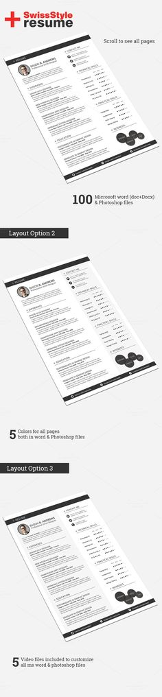 Check out Swiss Style Resume/CV Set Template by SNIPESCIENTIST on Creative Market