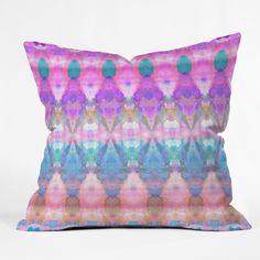 Amy Sia Tribal Diamonds Pastel Pink Throw Pillow