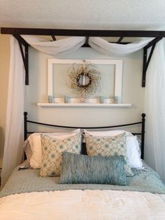 45 glamorous canopy beds ideas for romantic bedroom 45 - Schlafzimmer- ideen - Home Bedroom, Master Bedroom, Bedroom Decor, Bedroom Ideas, Master Suite, Bedroom Red, Headboard Ideas, Bedroom Furniture, Unique Headboards