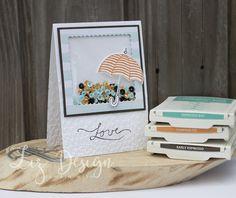 Stampin Up Umbrella Card Weather Together Stampin With Liz Design #GDP077