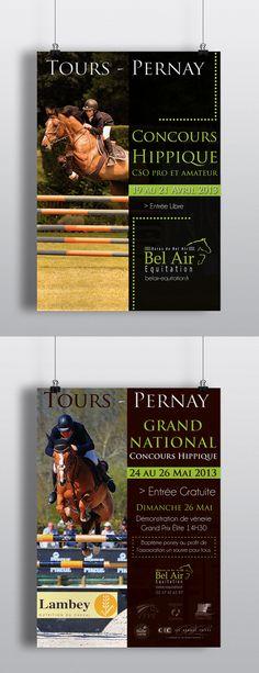 Affiches concours haras de Bel Air