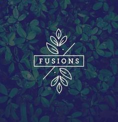 Logo inspiration: Fusions by Leslie Apa Hire quality logo and branding design. Logo inspiration: F Tolle Logos, Inspiration Logo Design, Logo Minimalista, Plant Logos, Restaurant Logo, Graphisches Design, Fusion Design, Design Ideas, Yoga Logo