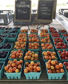 Cherry tomatoes at Pike's Farm Stand in Bridgehampton!