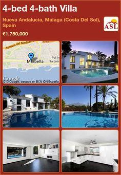 4-bed 4-bath Villa in Nueva Andalucia, Malaga (Costa Del Sol), Spain ►€1,750,000 #PropertyForSaleInSpain