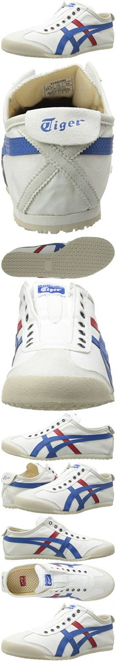 Onitsuka Tiger Mexico 66 Slip-On Classic Running Shoe, White/Tricolor, 11.5 M US