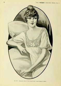 Nightgown Yoke No. C113 || The Artamo Crochet Book No. 1 || Courtesy of Open Library