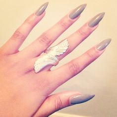 Grey Nails-- a lil too long for me but love the color and the style