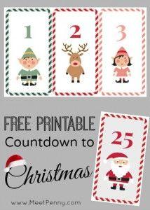 Countdown to Christmas free printable