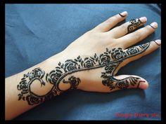 Step by step mehendi design! Khaleeji henna designs. Eidi mehendi Collection 2015