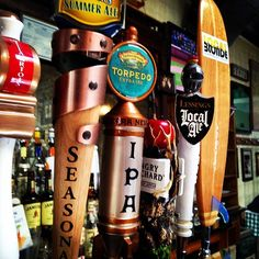 A couple of great #craftbeers on tap. #localblonde #torpedoipa #localale #angryorchard #drinklocal