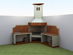 barbecue designs in the garden Design Barbecue, Grill Design, Patio Design, House Design, Outdoor Barbeque, Outdoor Oven, Backyard Retreat, Backyard Patio, Parrilla Exterior