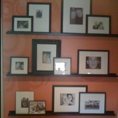 Pinner says: Our whimsical family tree! Mom painted a tree on the wall and then arranged old and new pictures of our family! - brilliant!