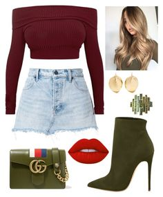 """""""Untitled #31"""" by kacenka12 on Polyvore featuring T By Alexander Wang, Gucci, Giulia Colussi, Ariana Boussard-Reifel and denimskirts"""