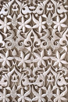 Relief pattern wall in the Alhambra. The most beautiful building in the world.