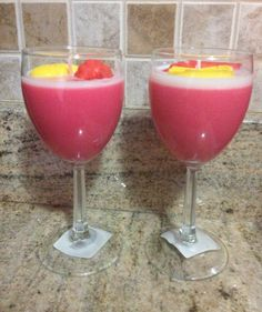 Candle drinks. Strawberry citrus scented