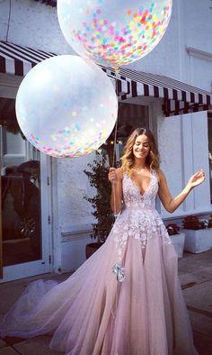 Long Prom Dresses, Pink Prom Dresses, Prom Dresses Long, Tulle Prom Dresses, Prom Long Dresses, Long Evening Dresses, Long Pink dresses, V-neck Prom Dress A-line Tulle Long Prom Dress Evening Dress