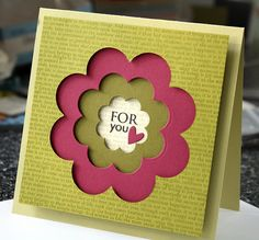 This technique would be great with Stampin Up framelit dies!