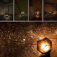 KOBWA Romantische Stern-Nachtlichter Projektor-Nachtlampe Sternenhimmel Schlafzimmer Dekoration Beleuchtung Gadget: Amazon.de: Küche & Haushalt