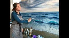 """How to Paint the Ocean in Oils - Large Seascape Painting """"Beginnings"""" by Eva Volf Oil Painting Techniques, Painting Videos, Painting Lessons, Acrilic Paintings, Seascape Paintings, Landscape Paintings, Water Art, Ocean Art, Beach Cottages"""