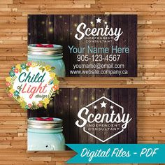 Scentsy Business Cards Independent Cards by ChildofLightDesign
