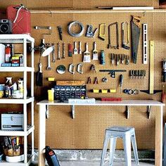 Unclutter Your Workbench  - How to do it: Organize workbench clutter on a simple pegboard rack.     Estimated cost: DPI's 4-by-8-foot white perforated pegboard wall panel, about $16; Lowe's. Crawford's 43-piece pegboard organizer with hooks, baskets, and jars, about $11; Ace Hardware